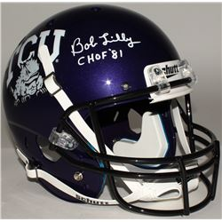 "Bob Lilly Signed TCU Full-Size Helmet Inscribed ""CHOF '81"" (JSA COA)"