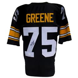 "Joe Greene Signed Steelers Pro-Style Jersey Inscribed ""HOF 87"" (JSA COA)"