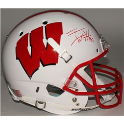 T. J. Watt Signed Wisconsin Badgers Full-Size Helmet (Watt Hologram)