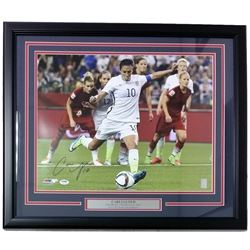 Carli Lloyd Signed Team USA 22x27 Custom Framed Photo Display  (PSA COA)