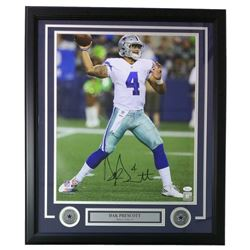 Dak Prescott Signed Cowboys 22x27 Custom Framed Photo Display (JSA COA)