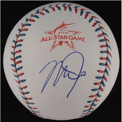 Mike Trout Signed 2017 All-Star Game OML Baseball (MLB Hologram)