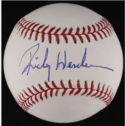 Rickey Henderson Signed OML Baseball (MLB Hologram)
