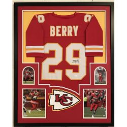 "Eric Berry Signed Chiefs 34"" x 42"" Custom Framed Jersey Display (JSA COA)"