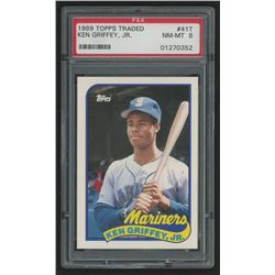 1986 Topps Traded #41T Ken Griffey (PSA 8)