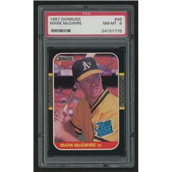 1987 Donruss #46 Mark McGwire (PSA 8)