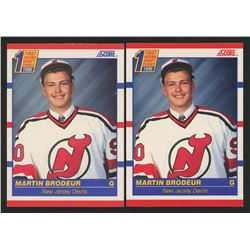 Lot of (2) 1990-91 Score #439 Martin Brodeur RC