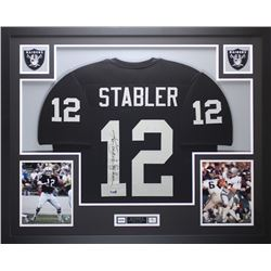 "Ken Stabler Signed Raiders 35"" x 43"" Custom Framed Jersey Inscribed ""Snake"" (Radtke COA  Stabler Hol"
