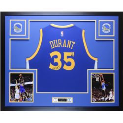 Kevin Durant Signed Warriors 35x43 Custom Framed Jersey (Steiner COA  Panini Hologram)