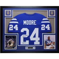 "Lenny Moore Signed Colts 35x43 Framed Photo Display Inscribed ""HOF 75"" (JSA COA)"