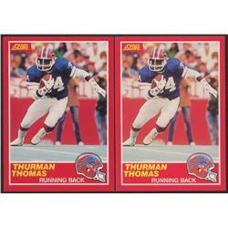 Lot of (2) 1989 Score #211 Thurman Thomas RC