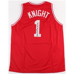 "Bobby Knight Signed Indiana Hoosiers Jersey Inscribed ""3x Champs"" (Steiner COA)"