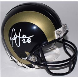 Marshall Faulk Signed Rams Mini Helmet (Radtke COA)