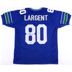 "Steve Largent Signed Seahawks Throwback Jersey Inscribed ""HOF 95"" (Schwartz COA)"