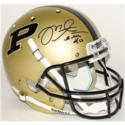 Mike Alstott Signed Purdue Boilermakers Full-Size Throwback Helmet (Radtke COA)