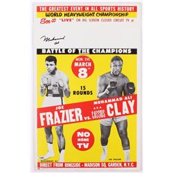 Vintage Muhammad Ali Signed 14x22 1971 Fight Poster vs Joe Frazier (PSA LOA)