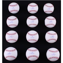 Lot of (12) Jon Gray Signed OML Baseballs (LOJO COA)