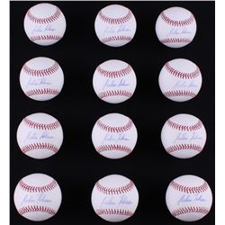 Lot of (12) Julio Teheran Signed OML Baseballs (LOJO COA)
