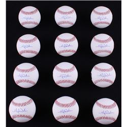 Lot of (12) Michael Wacha Signed OML Baseballs (LOJO COA)