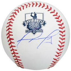 David Ortiz Signed Final Season Commemorative OML Logo Baseball (MLB)