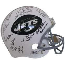 1969 Jets LE Full-Size Authentic On-Field Helmet Signed by (24) with Joe Namath, Don Maynard, Carl M
