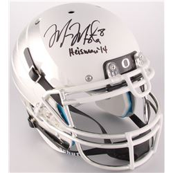 Marcus Mariota Signed Oregon Ducks Custom Matte White Carbon Fiber Full-Size Authentic On-Field Helm