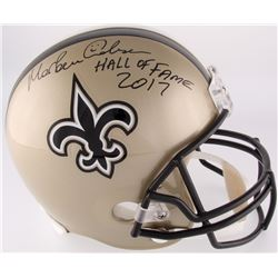 "Morten Anderson Signed Saints Full-Size Helmet Inscribed ""Hall of Fame 2017"" (Radtke COA)"