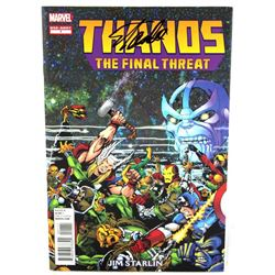 "Stan Lee Signed ""Thanos: The Final Threat"" Comic Book (Lee Hologram)"