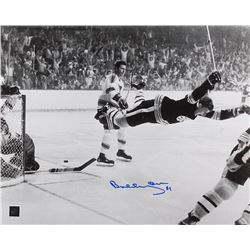 "Bobby Orr Signed Bruins ""The Flying Goal"" 16x20 Photo (Orr COA)"
