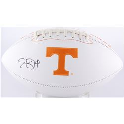 Eric Berry Signed Tennessee Volunteers Logo Football (JSA COA)