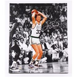 Larry Bird Signed Celtics 20x24 Photo on Canvas (Larry Bird Hologram  Schwartz COA)