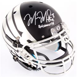 Marcus Mariota Signed Oregon Ducks Custom Matte Black Carbon Fiber Full-Size Authentic On-Field Helm