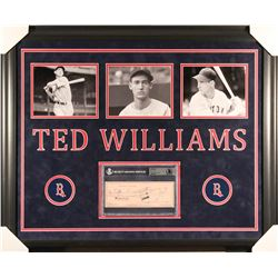 Ted Williams Signed Red Sox 28x34 Custom Framed Check Display (Beckett Encapsulated)
