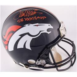 "Terrell Davis Signed Broncos Full-Size Authentic On-Field Helmet Inscribed ""SB XXXII MVP"" (Radtke CO"