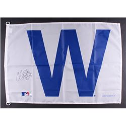 "Carl Edwards Jr. Signed 28x41 Chicago Cubs ""W"" Flag (Schwartz COA)"
