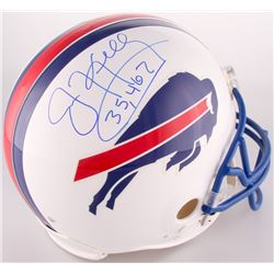 "Jim Kelly Signed Bills Full-Size Authentic On-Field Helmet Inscribed ""35,467"" (Steiner COA)"
