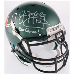 "Jim Kelly Signed University of Miami Full-Size Authentic On-Field Helmet Inscribed ""Go Canes!"" (Beck"