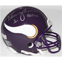 "Warren Moon Signed Vikings Mini-Helmet Inscribed ""HOF 06"" (Radtke COA)"
