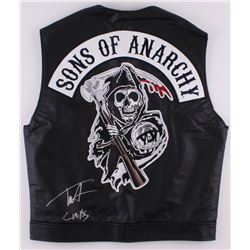 "Tommy Flanagan Signed ""Sons of Anarchy"" Vest Inscribed ""Chibs"" (Radtke COA)"