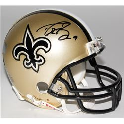 Drew Brees Signed Saints Mini-Helmet (Radtke COA  Brees Hologram)