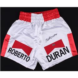 Roberto Duran Signed Boxing Trunks (Radtke COA)