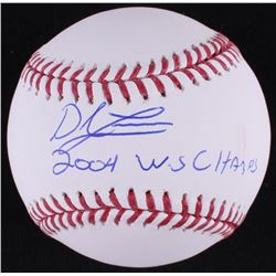 "Derek Lowe Signed OML Baseball Inscribed ""2004 W.S Champs"" (MAB Hologram)"