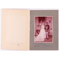 "Grace Kelly  Prince Rainier Signed Vintage 5x7 Photo In Photo Folder Inscribed ""With Affection"" (PSA"