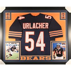 Brian Urlacher Signed Bears 36x44 Custom Framed Jersey (JSA COA)