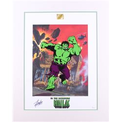 "Stan Lee Signed ""The Incredible Hulk"" 21.5x27 Custom Matted Limited Edition Lithoserigraph by Joe Ju"
