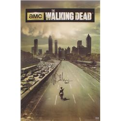 "Jeffrey Dean Morgan Signed ""The Walking Dead"" Season 1 24x36 Poster Inscribed ""Negal"""