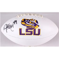 Adrian Key Signed LSU Tigers Logo Football (JSA COA)