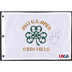 Jason Day Signed 2017 US Open Pin Flag (JSA COA)