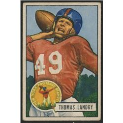 1951 Bowman #20 Tom Landry RC