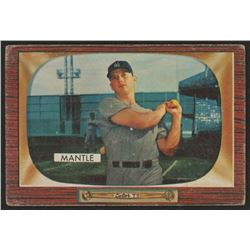 1955 Bowman #202 Mickey Mantle UER / (Incorrect birthdate)